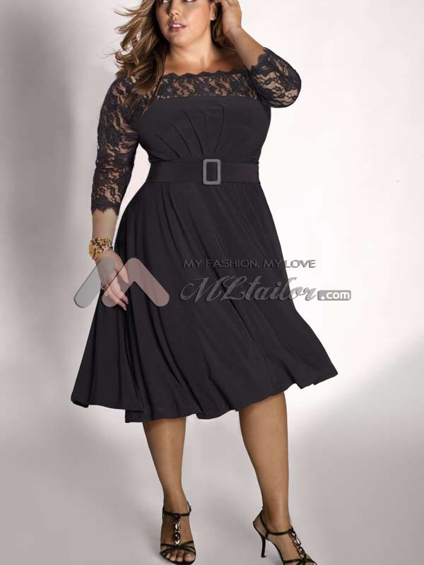 Plus Size Cocktail Dress With Jacket Style Jeans
