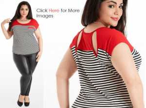 Plus size fashion tops